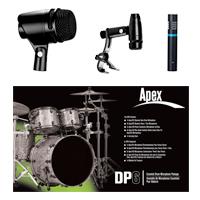 Apex DP6 Deluxe Drum Mic Pack by