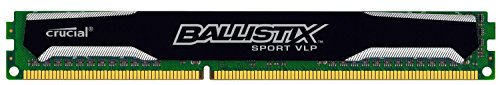 Crucial Ballistix Sport 4GB Single DDR3-1600 (PC3-12800) Very Low Profile 240-Pin UDIMM Memory Module BLS4G3D1609ES2LX0