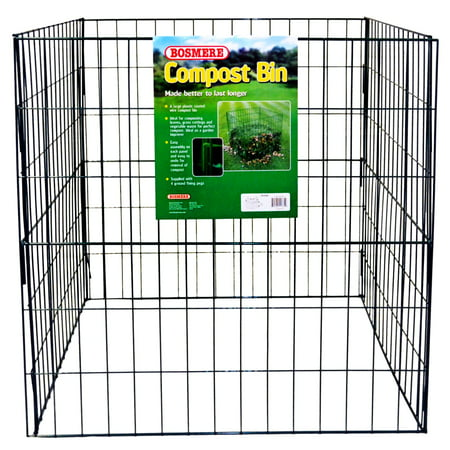 Bosmere Wire Compost Bin K765 (Bosmere 58 Gallon Country Wood Compost Bin)