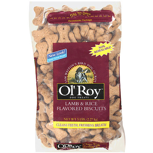 Ol' Roy Lamb & Rice Dog Biscuits, Assorted Designs, 5 lb