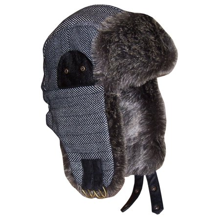 40e1b86ed5f N Ice Caps - NICE CAPS Boys Winter Snow Tweed Trapper Hat Headwear with Faux  Fur Lining - Fits Little Kids Toddler Youth Children Teens Sizes -  Walmart.com