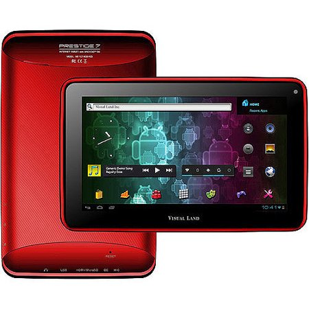 Red 8 Gb Kit (Visual Land Prestige 7 - 7  Android Tablet with 8GB Memory (Red) )