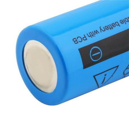 18650 Li-ion 3800mAh 3.7V Re able Battery for Your Flashlight 2Pcs - image 2 de 8