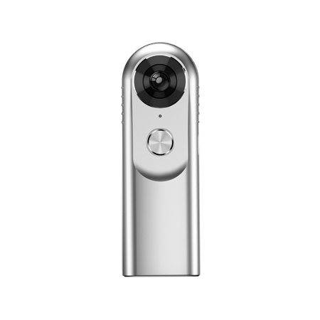Blurfix 360 Camera HD Fisheye Action Video Camera -Features Dual Wide Angle Fisheye Lens and Provides A 3D VR Panoramic Full HD 2K Camcorder Video Experience - Comes w/Tripod - Silver