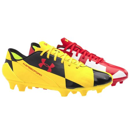 UNDER ARMOUR MEN S TEAM SPEEDFORM CRM FG SOCCER CLEATS RED WHITE YELLOW 12 98130e65b5a5