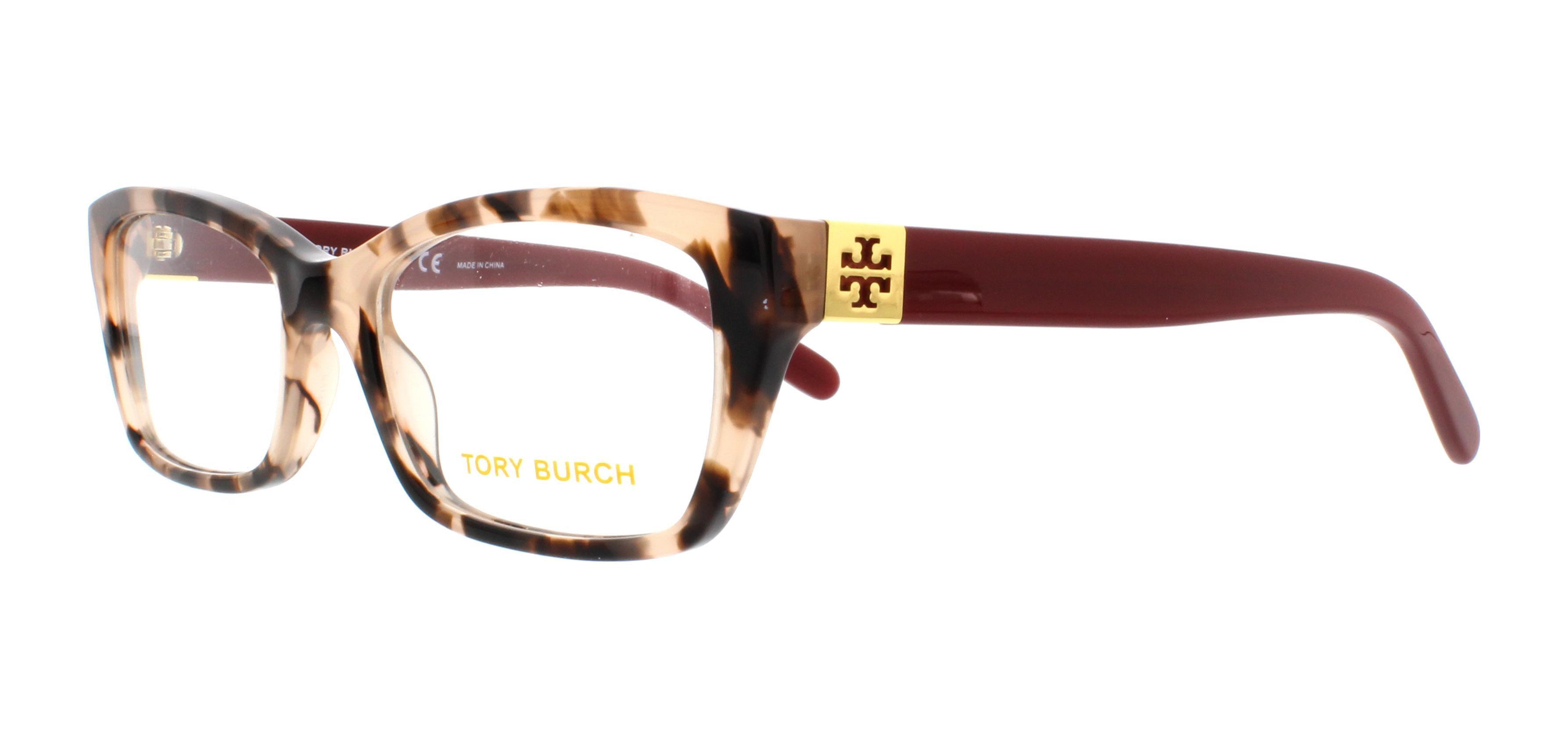 TORY BURCH Eyeglasses TY2049 1363 Blush Tortoise Cabernet 51MM ...