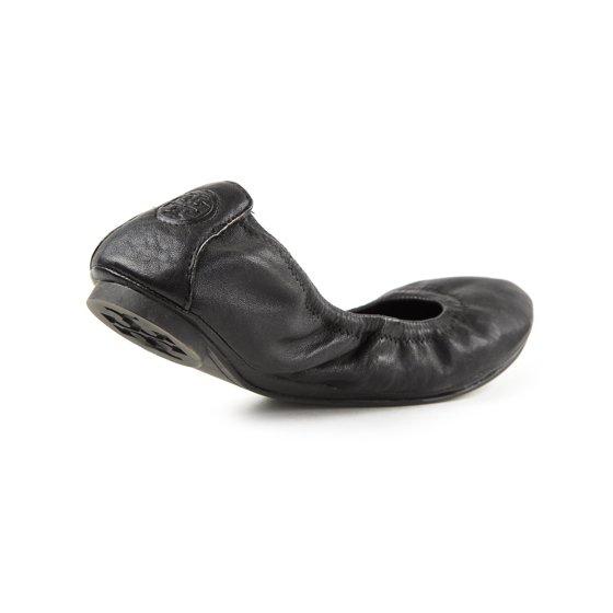 27f016fb331621 Tory Burch - Tory Burch Eddie Ballet Flats 6.5 Black Nappa - Walmart.com