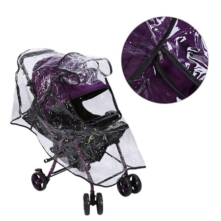 Dilwe 1Pc Pvc Universal Waterproof Baby Stroller Rain Cover Dust Wind Shield Pram Accessory, Buggy Rain Cover, Baby Pushchair (Mountain Buggy Storm Cover)