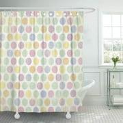 KSADK Pink Mint Pastel Large Dot Purple Lemon Distressed Lavender Lilac Aqua Bright Bathroom Shower Curtain 60x72 inch