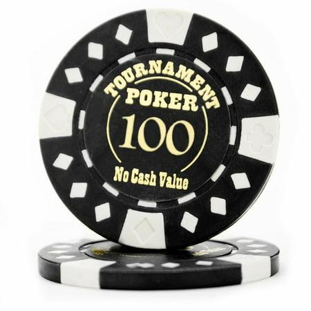 Texas Holdem Tournament Software - Casino Poker Chips, Pack Of 25 Texas Holdem Tournament Quality Poker Chips, Black