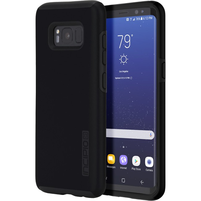 Incipio DualPro The Original Dual Layer Protective Case for Samsung Galaxy S8+ - Smartphone - Black - Polycarbonate - 12 ft Drop Height