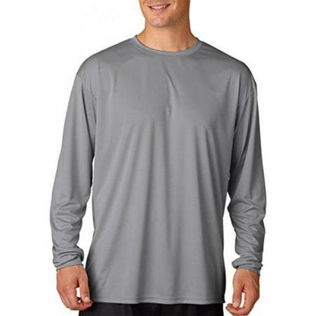 f1aac495 A4 - A4 Men's Cooling Performance Crew Long Sleeve T-Shirt, Graphite,  3X-Large - Walmart.com