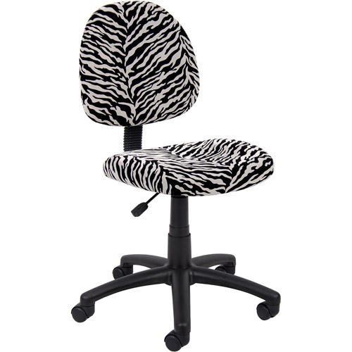 Boss Office Products Zebra Print Microfiber Deluxe Posture Office Chair by Boss Office Products