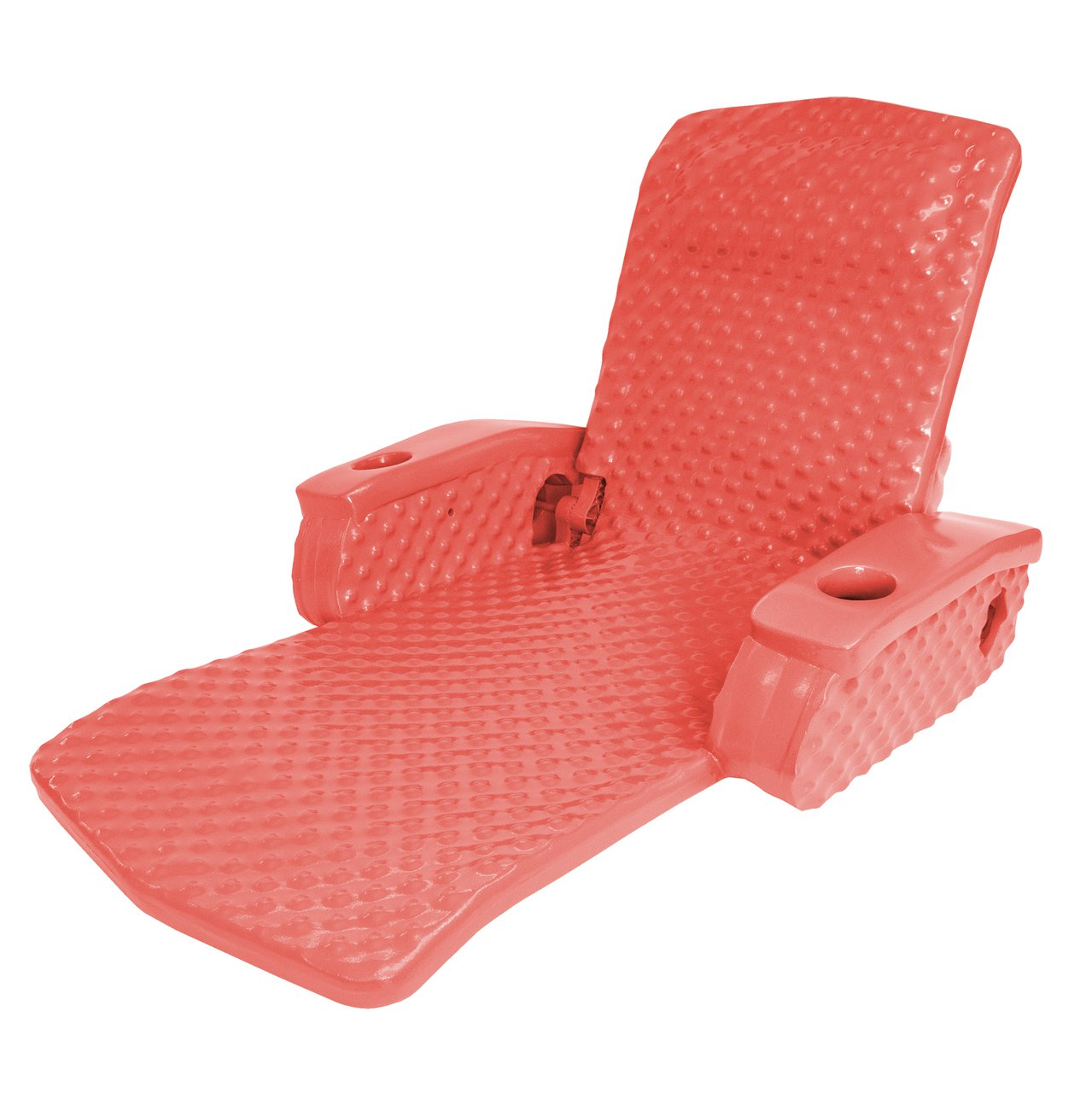 TRC Recreation Swimming Pool Soft Adjustable Folding Chair Lounge Float, Red