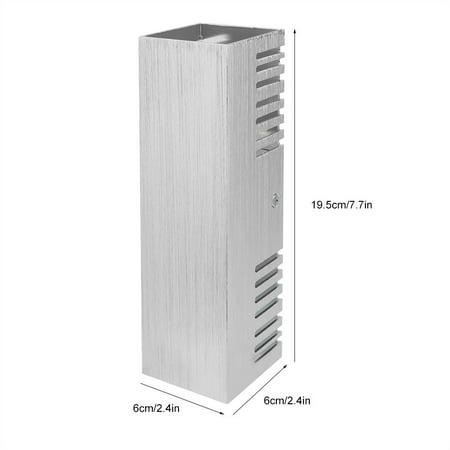Ejoyous  Lumière blanche chaude en aluminium de lumière de mur de lampe de l'effet blanc chaud de 6W pour le décor d'éclairage intérieur, LED d'intérieur, lumière d'intérieur - image 2 de 12