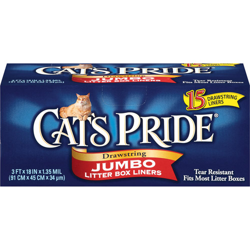 Cat's Pride Drawstring Jumbo Litter Box Liners, 15ct