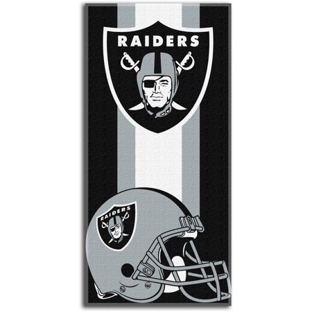 Nfl Oakland Raiders  Zone Read  30  X 60  Beach Towel