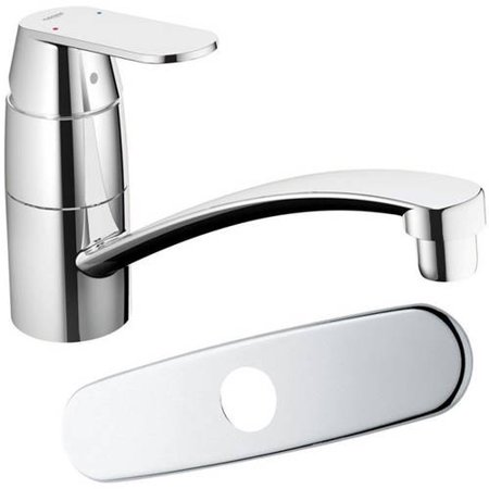 Grohe 31135000 Eurosmart Cosmopolitan Single Lever Sink Mixer, (Grohe Eurosmart Single Lever Bath Shower Mixer)