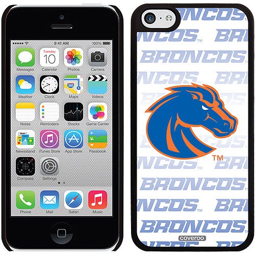 Boise State Repeating White Blue Design on iPhone 5c Thinshield Snap-On Case by Coveroo