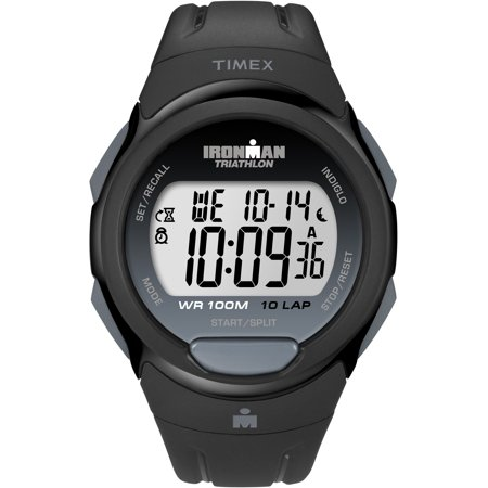 Men's Ironman Essential 10 Full-Size Watch, Black Resin