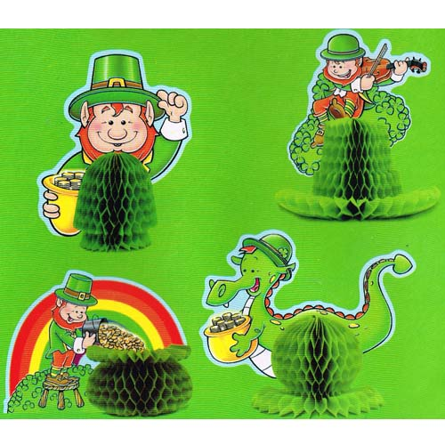 St. Patrick's Day Mini Honeycomb Centerpieces (4ct)