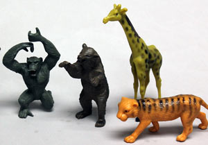 6ct Jungle Animals Big Game Assortment Cake Adornments (4-5.5 inches)