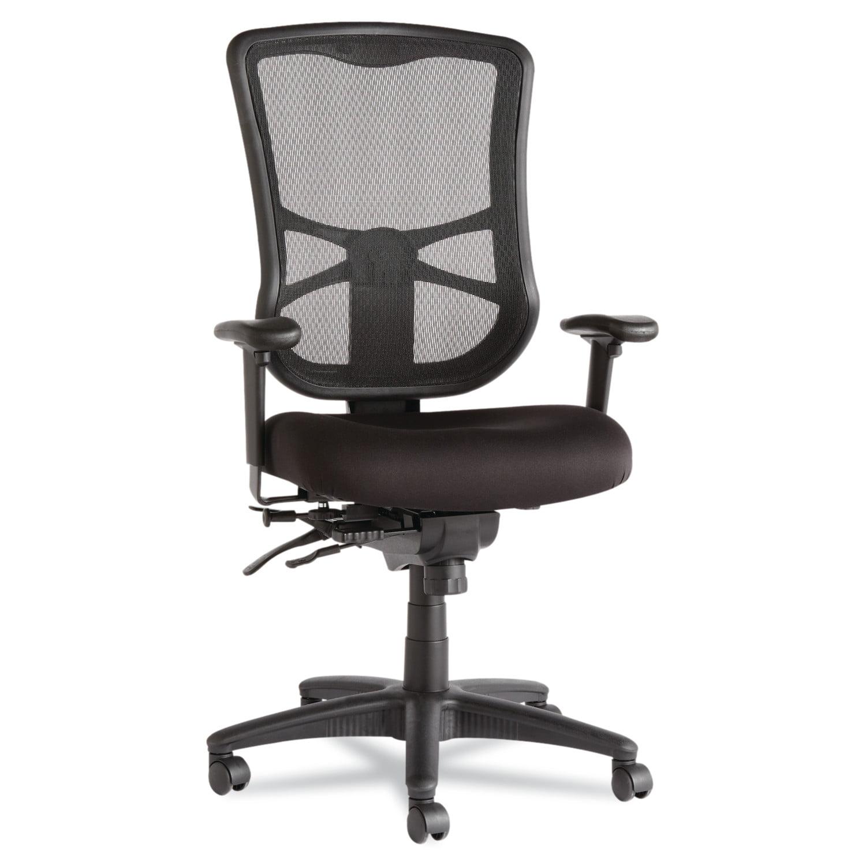 Alera Elusion Series Mesh High-Back Multifunction Office Chair, Black
