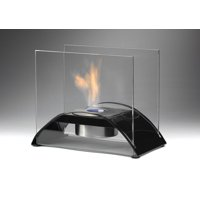 Sunset Table Top Fireplace in Gloss Black
