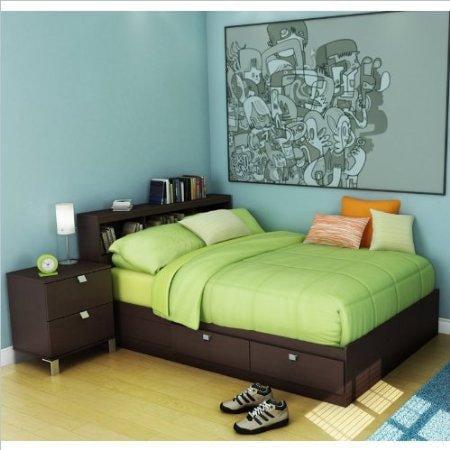kids full wood storage bed 3 piece bedroom set in