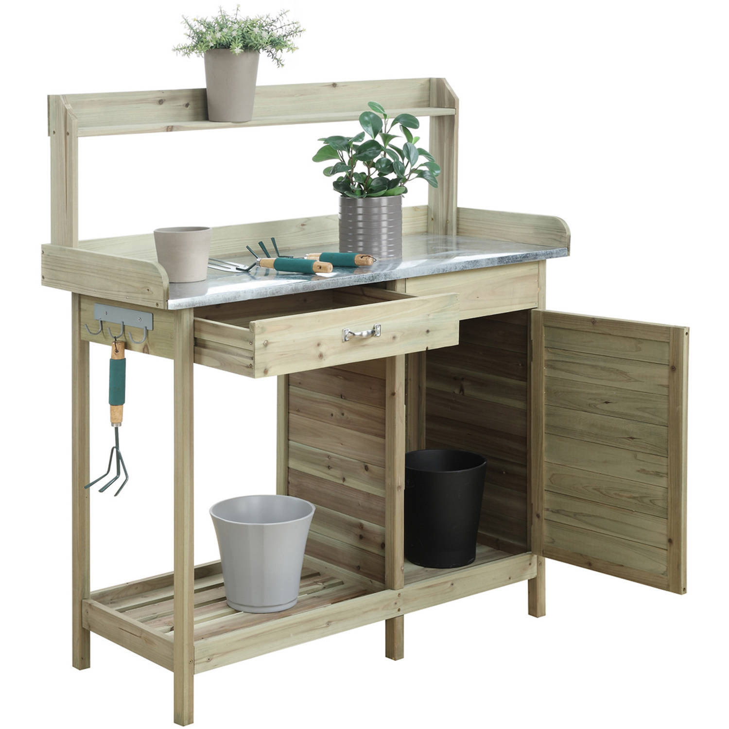 Convenience Concepts Planters and Potts Deluxe Potting Bench with ...