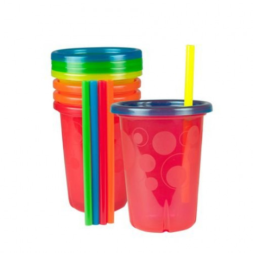 The First Years Straw Cup, Take and Toss, 10 Ounce - 4 Cups