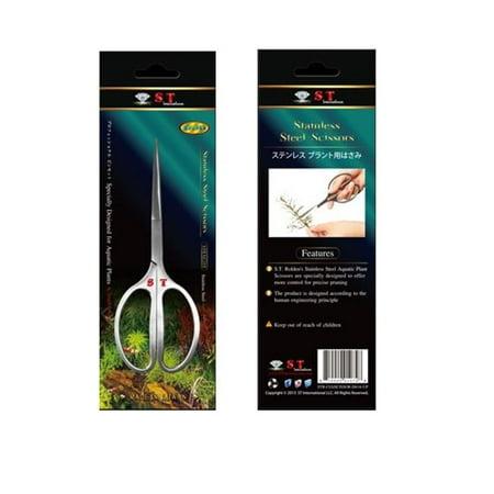 S.T. International Stainless Steel Aquatic Plant Scissors, Straight, 6. 3 inch
