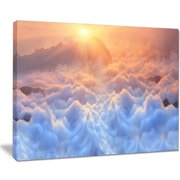 Design Art 'Frosty Carpathian Mountains' Graphic Art on Wrapped Canvas