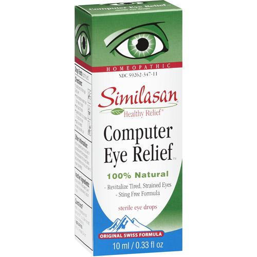 Similasan Original Swiss Formula Homeopathic Computer Eye Relief Sterile Eye Drops, 0.33 oz