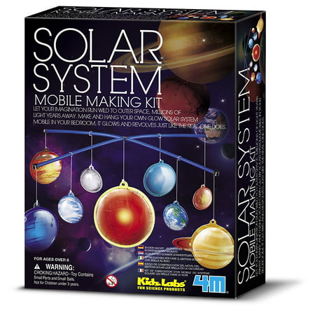 Interactive Solar System (4M KidzLabs Glow-in-the-Dark Solar System Mobile Making Kit )
