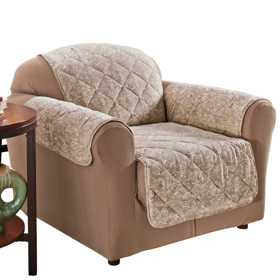 Leaf Pattern Quilted Furniture Protector Cover, Chair