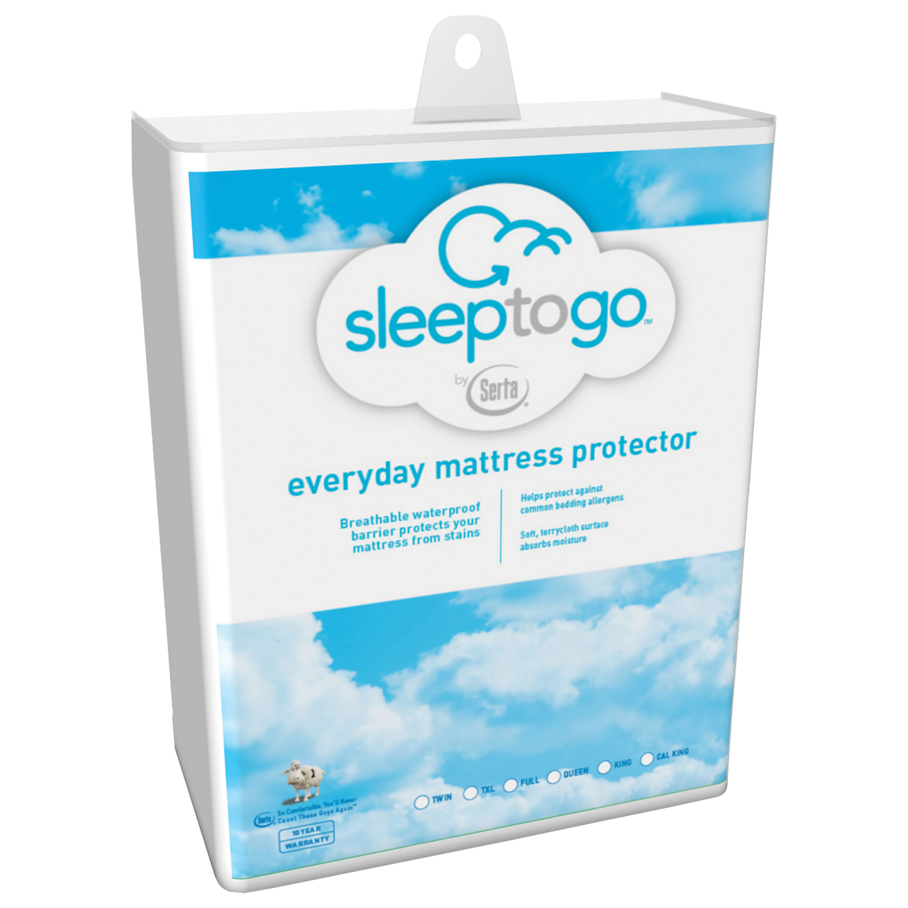 Serta SLEEP2GOQ Sleep to Go Everyday Mattress Protector - Queen