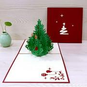 ENJOY 3D Christmas Cards Greeting Handmade Paper Card 12 Styles