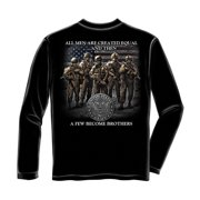 United States Army Brotherhood Long Sleeve T-Shirt by , Black