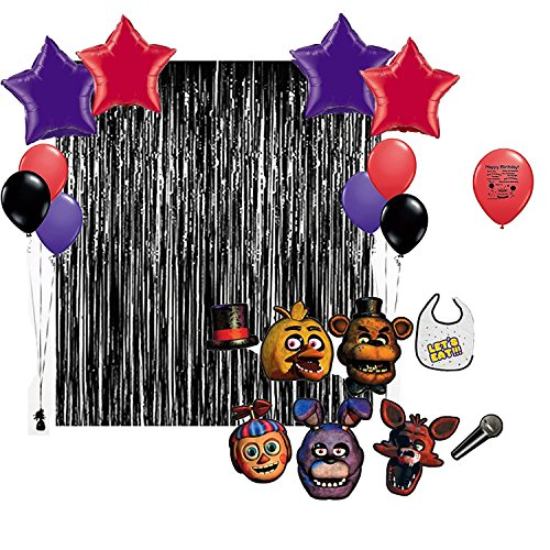 32-Count) Five Nights at Freddys Party Supplies,12 Inch Latex Balloon for Boys Five Nights at FreddysTheme Birthday Party Supplies Decorations