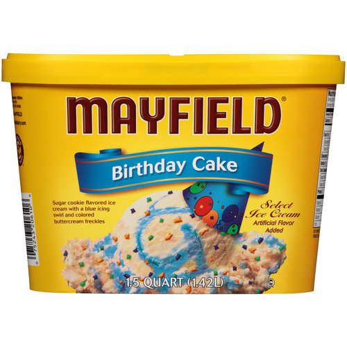 Mayfield Birthday Cake Select Ice Cream 15 qt Walmartcom