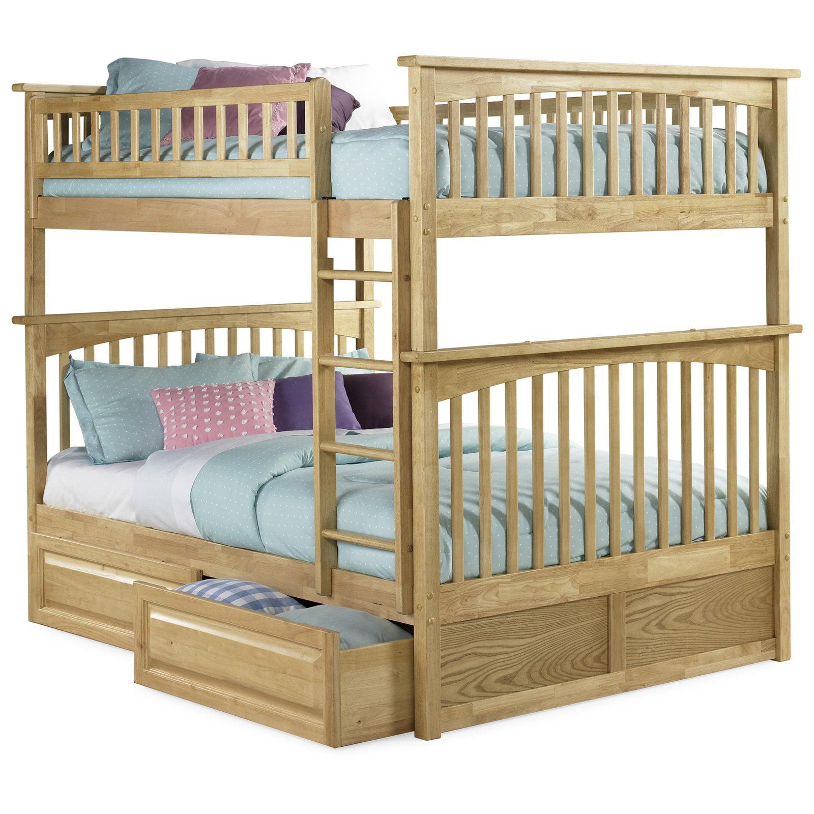 Atlantic Furniture Columbia Full Over Full Bunk Bed Walmart Com