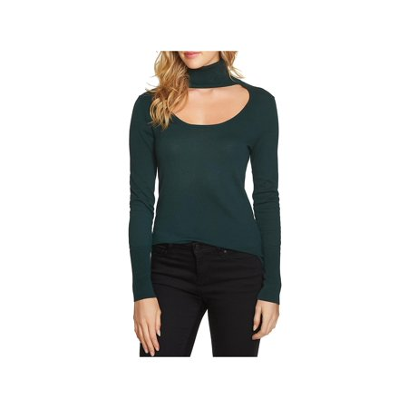 1.State Womens Cut-Out Scoop Neck Turtleneck Sweater