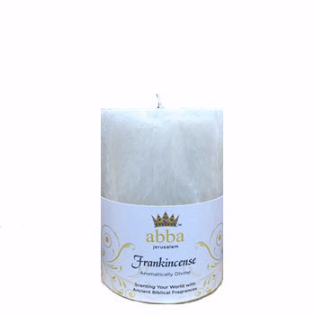 Image of Candle-Frankincense & Myrrh-White 3x4