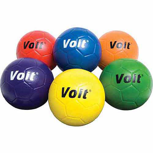 Voit Coated Foam Soccer Ball, Size 4, Prism Pack
