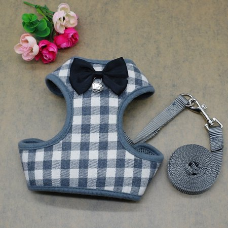 Sit Harness - Dog Harness Leash Set Pet Cat Vest Harness with Bowknot for Small Puppy Dogs Chihuahua Yorkies Pug