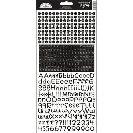 Teensy Type Cardstock Alphabet Stickers-Beetle (Cardstock Alphabet Stickers)