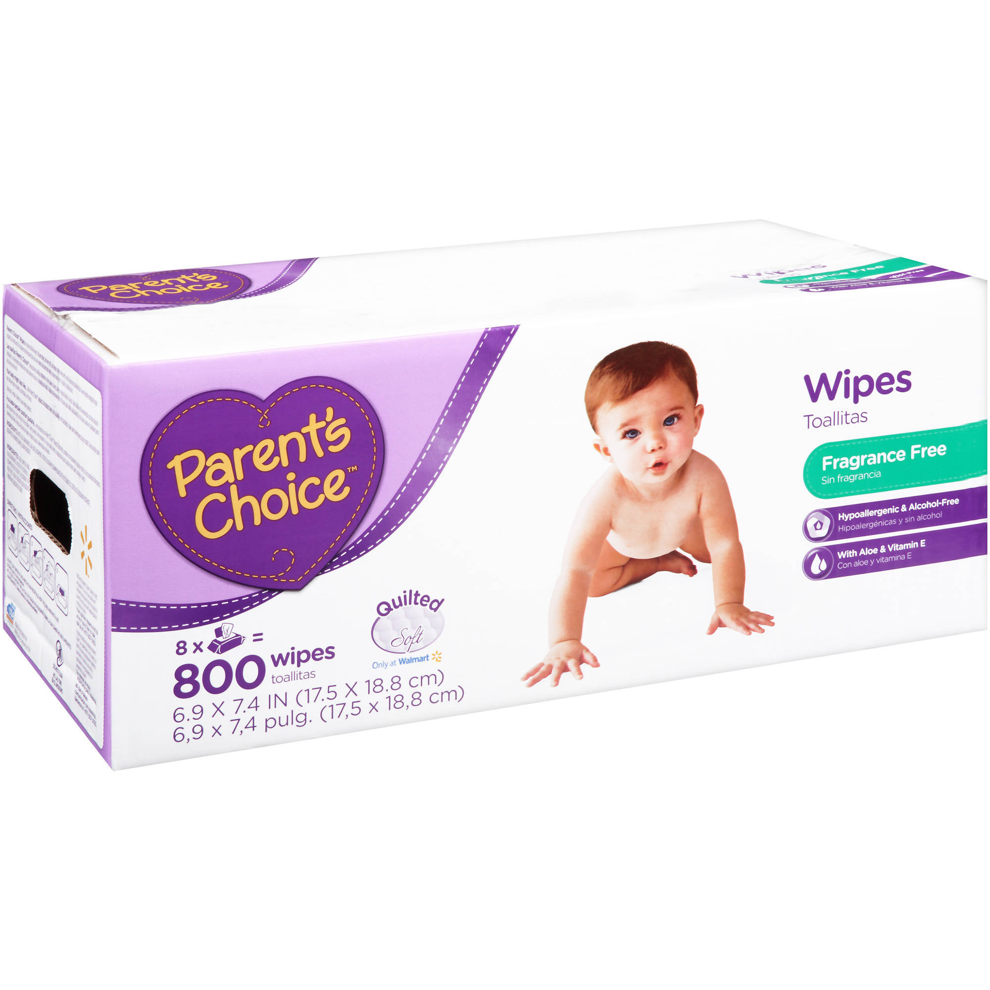 Parent's Choice Fragrance Free Baby Wipes, 800 sheets