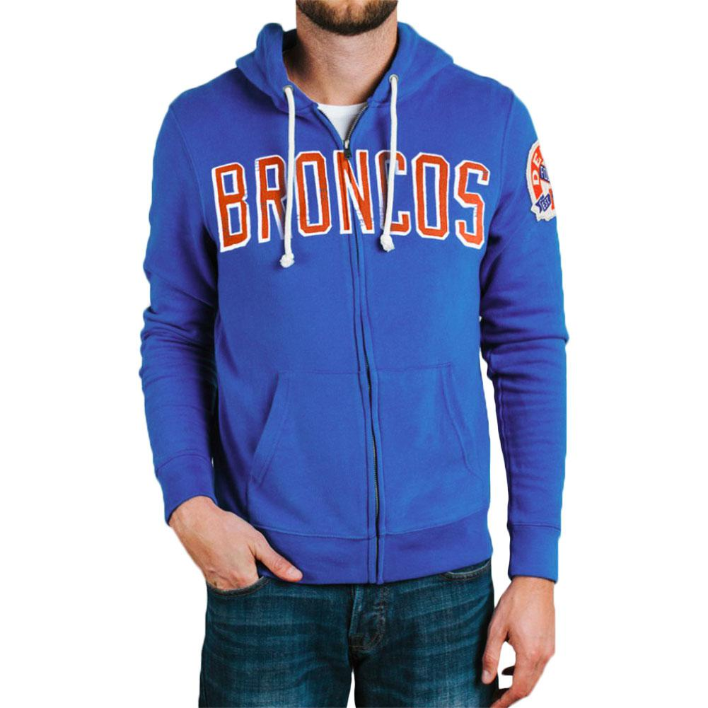 Denver Broncos - Letter Logo Sunday Adult Zip Hoodie