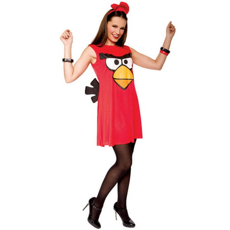 Angry Birds Sassy Red Bird Adult Costume Small](Rio Bird Costume)